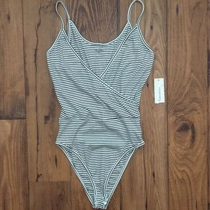 NWT Striped Body Suit From Francesca's